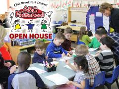 Oak Brook Park District ABC Preschool Open House