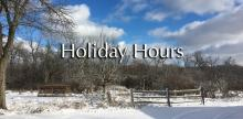 Oak Brook Park District Winter Holiday Hours for the Family Recreation Center, Tennis Center, and Aquatic Center
